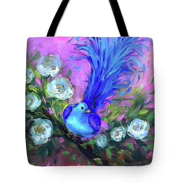 Blue Bird Christmas Wish Tote Bag