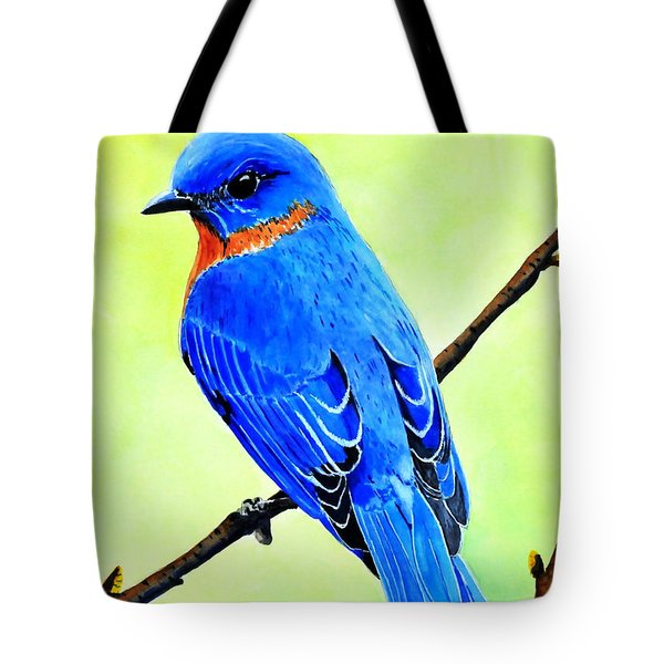 Blue Bird King Tote Bag