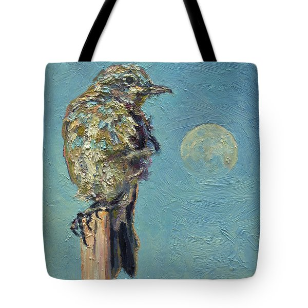 Blue Bird Moon Tote Bag