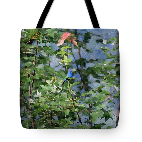Blue Bird On Silk Tote Bag by Gary Smith