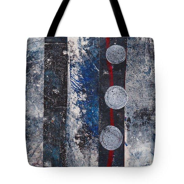 Blue Black Collage Tote Bag