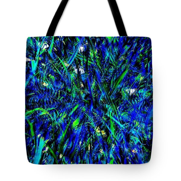 Tote Bag featuring the photograph Blue Blades Of Grass by EDi by Darlene