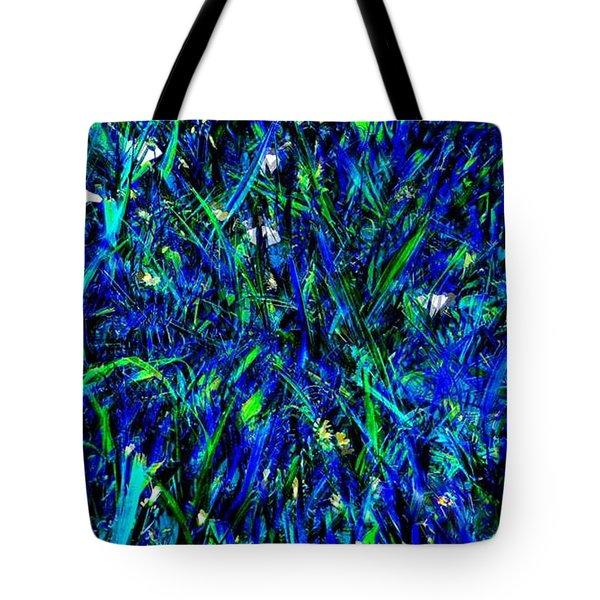 Blue Blades Of Grass Tote Bag