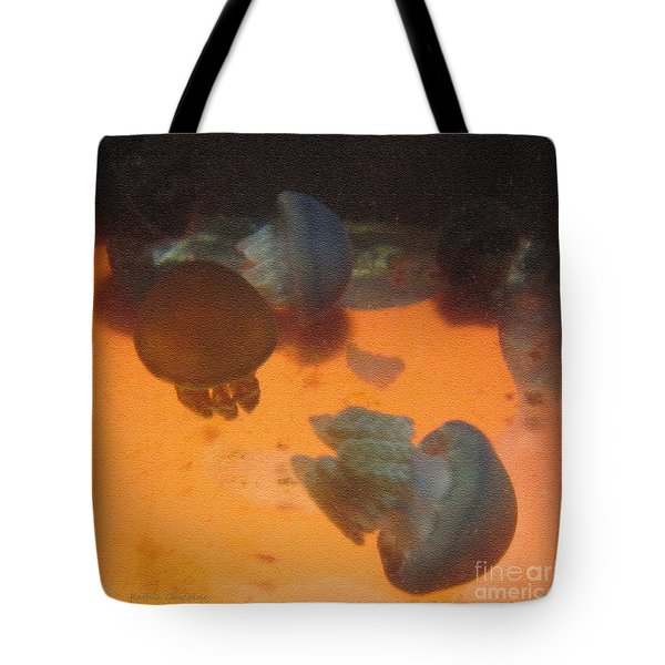 Blue Blubber Jellyfish Tote Bag
