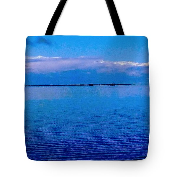 Tote Bag featuring the photograph Blue Blue Sea by Vicky Tarcau