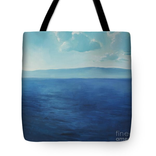 Blue Blue Sky Over The Sea  Tote Bag