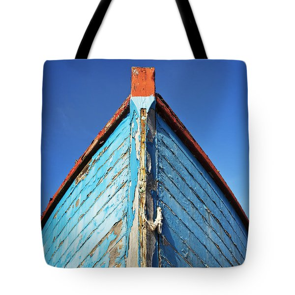 Blue Boat Tote Bag by Ian Merton