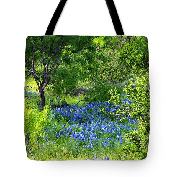 Blue Bonnets In The Country Tote Bag