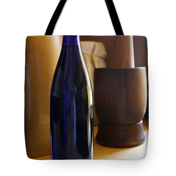 Blue Bottle And Mortar Tote Bag