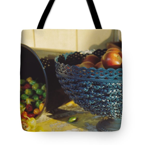 Blue Bowl Tote Bag by Jan Amiss Photography