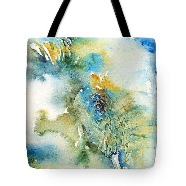 Blue Boy_ Elephant Tote Bag