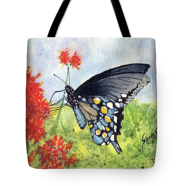 Tote Bag featuring the painting Blue Boy by Sam Sidders