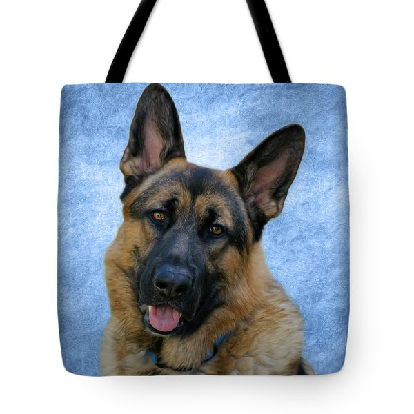 Blue Boy Tote Bag by Sandy Keeton