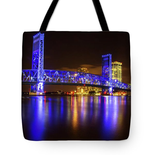Blue Bridge 3 Tote Bag