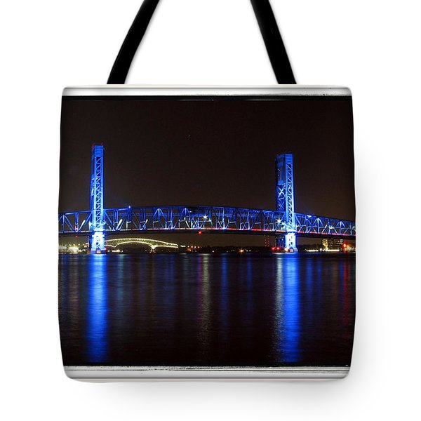 Blue Bridge Of Jacksonville Tote Bag