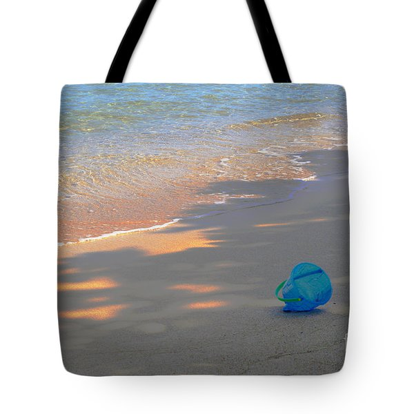 Blue Bucket Tote Bag by Jeanette French