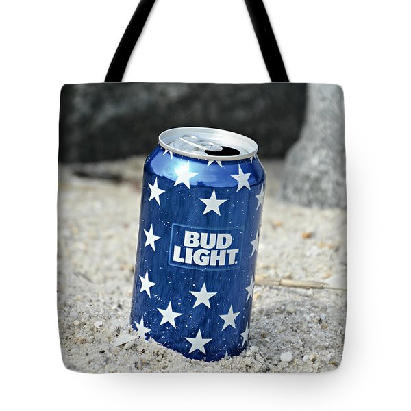 Blue Bud Light Tote Bag