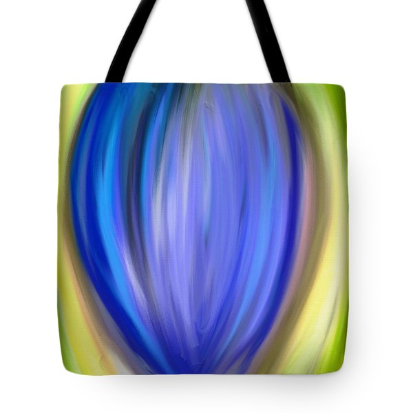 Tote Bag featuring the digital art Blue Bud by Melinda Ledsome