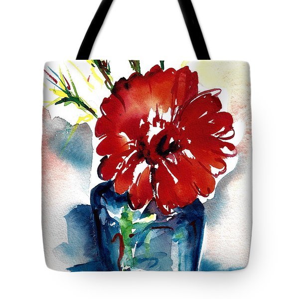 Blue Bud Vase Tote Bag