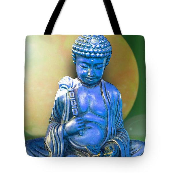 Blue Buddha Figurine Tote Bag