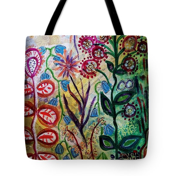Blue Bug In The Magic Garden Tote Bag
