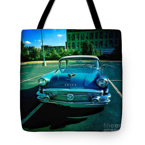 Blue Buick Tote Bag by Terry Rowe