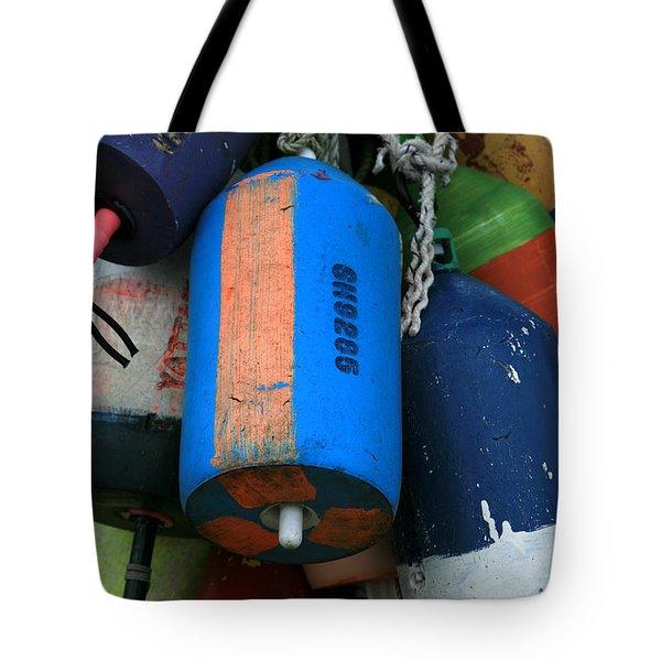 Blue Buoys Tote Bag