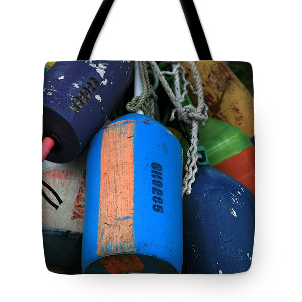 Blue Buoys Tote Bag