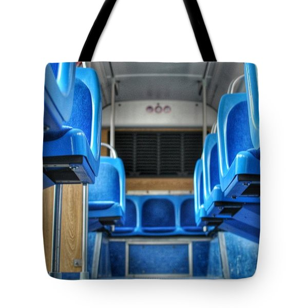 Blue Bus Seats Tote Bag