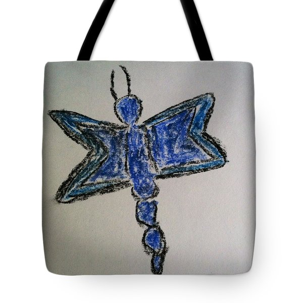 Blue Butterfly Tote Bag by Alohi Fujimoto