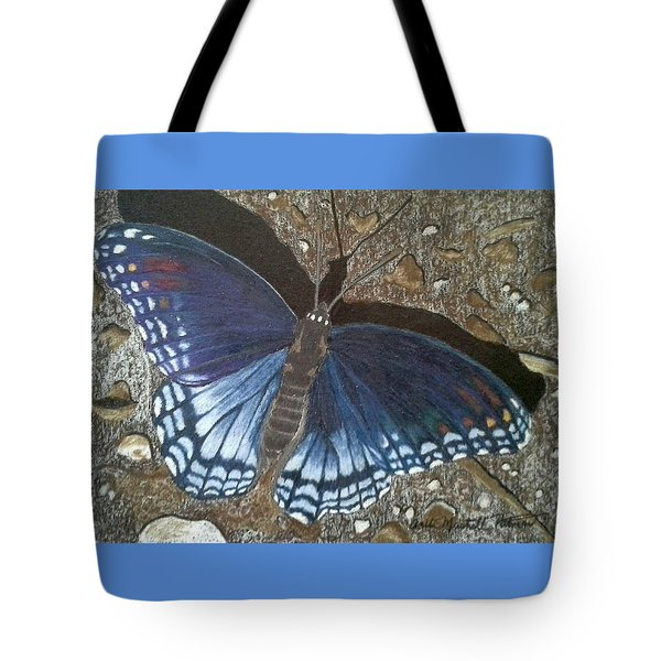 Blue Butterfly - Savannah Charaxes Tote Bag