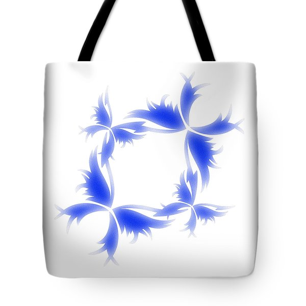 Blue Butterfly Wreath Tote Bag