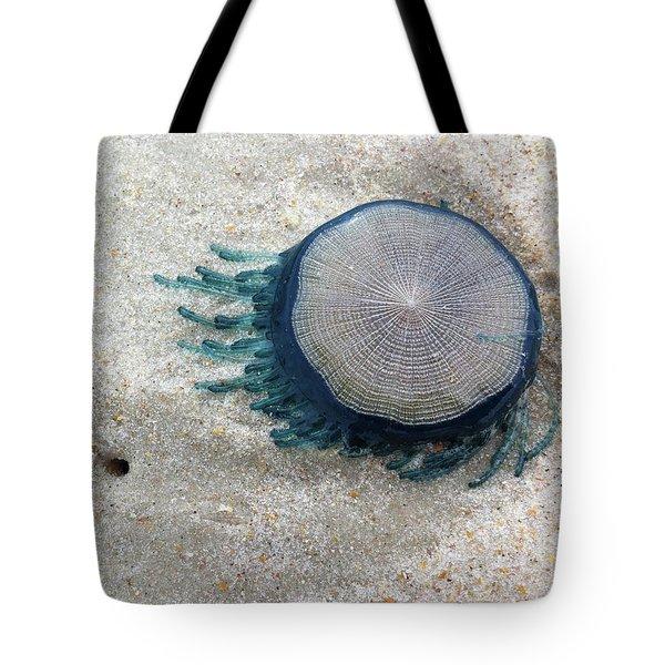 Blue Button #2 Tote Bag