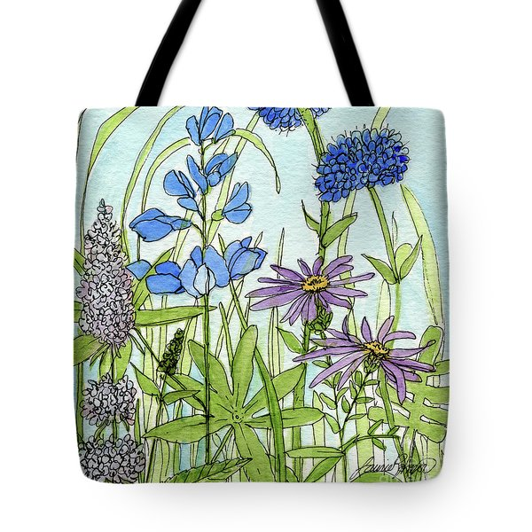 Blue Buttons Tote Bag