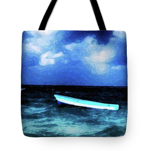 Blue Cancun Tote Bag