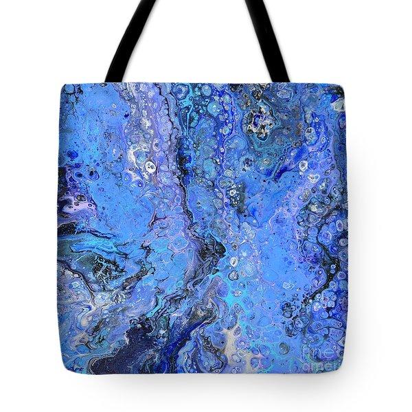 Blue Capri Tote Bag