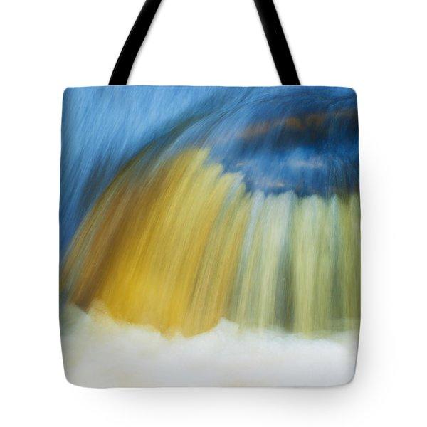 Blue Cascade Tote Bag