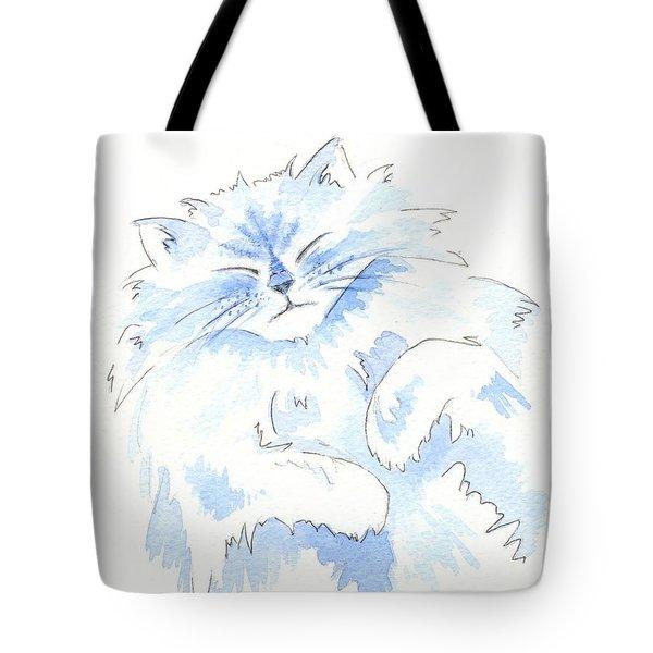 Blue Cat Tote Bag