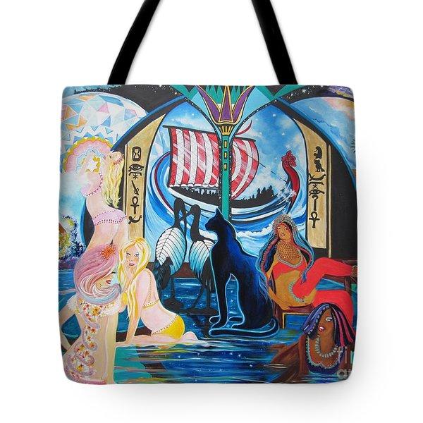 Five Celestial Celebrations                                        Blaa Kattproduksjoner  -  Tote Bag