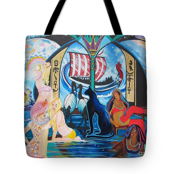 Five Celestial Celebrations                                        Blaa Kattproduksjoner  -  Tote Bag