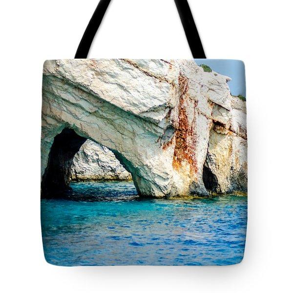 Blue Cave 4 Tote Bag