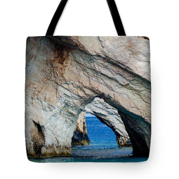 Blue Caves 2 Tote Bag