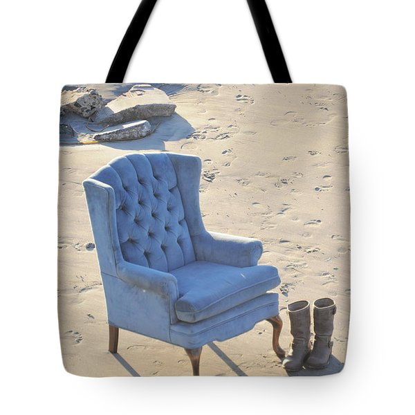Blue Chair Tote Bag
