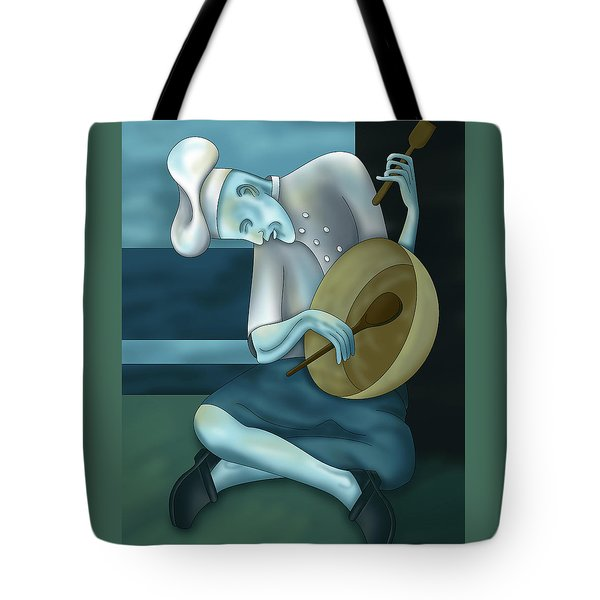 Blue Chef Tote Bag