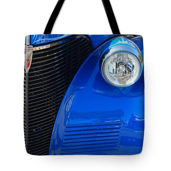Blue Chevy Tote Bag