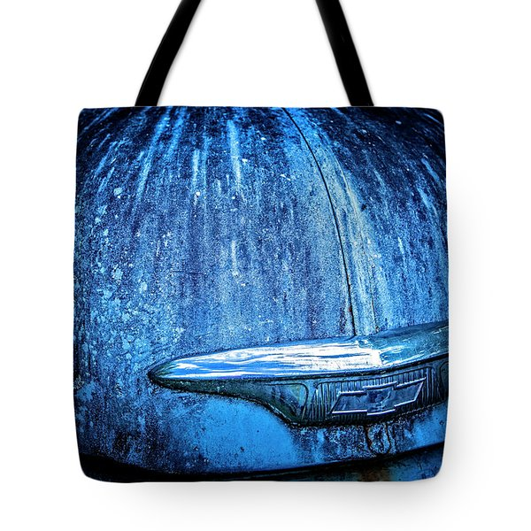 Blue Chevy Tote Bag