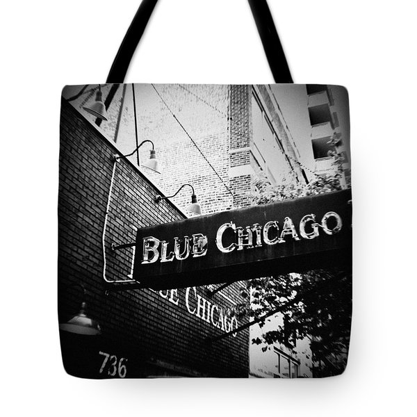 Blue Chicago Nightclub Tote Bag