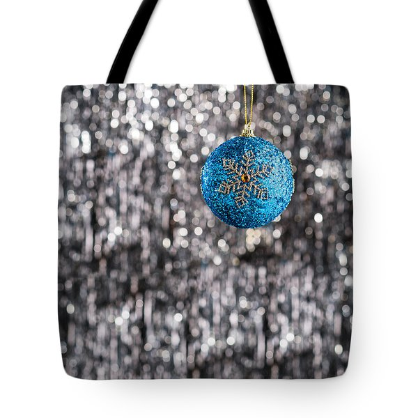 Tote Bag featuring the photograph Blue Christmas by Ulrich Schade