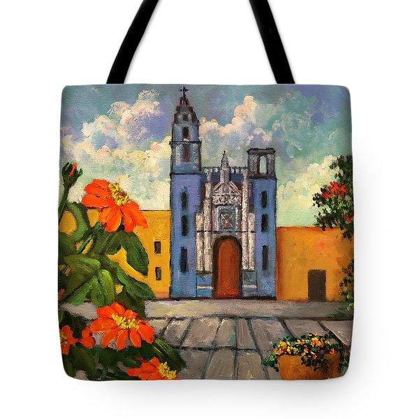 Blue Church   Iglesia Azul Tote Bag