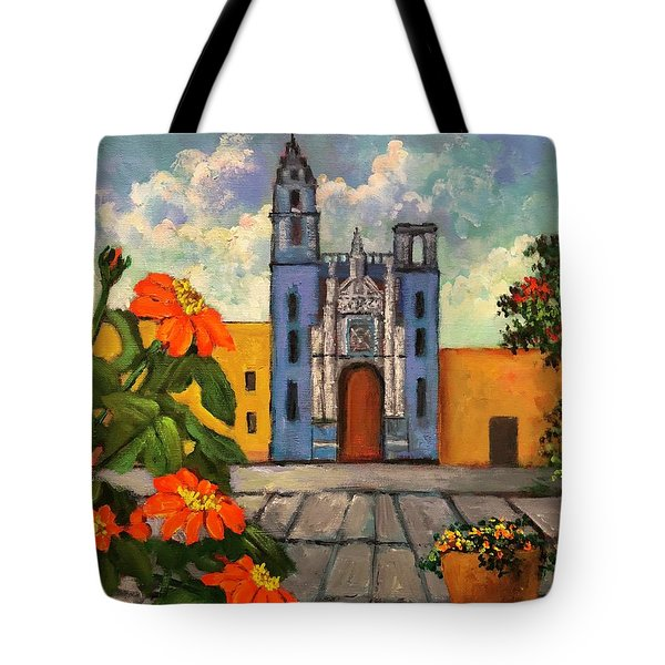 Blue Church   Iglesia Azul Tote Bag